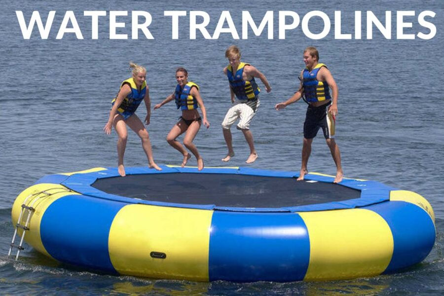 water trampolines collingwood blue mountain