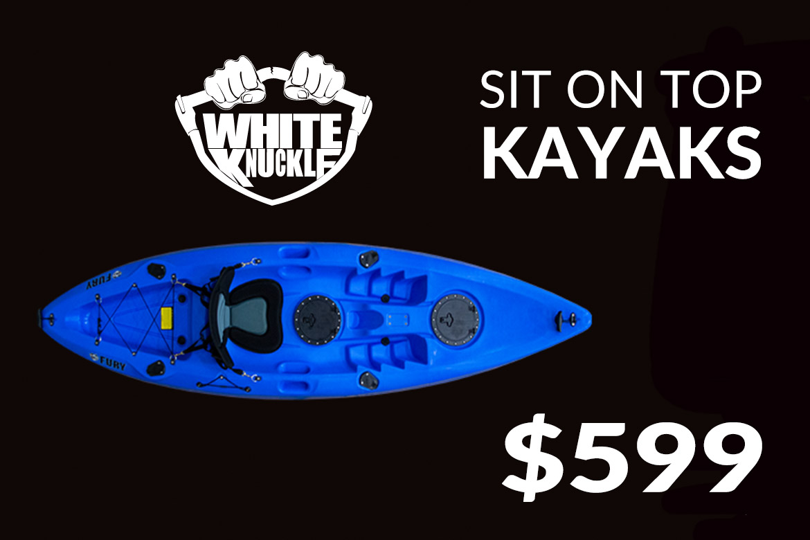 white knuckle sit on top kayaks collingwood blue mountain